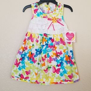 Youngland Baby Butterfly Floral Dress 24 Months